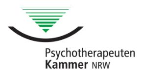Mitglied der Psychotherapeutenkammer NRW